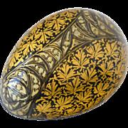 Paper Mache  Egg Trinket Box