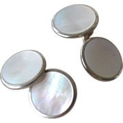 Barry Cuff Links Mother of Pearl