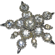 Pin Brooch Rhinestone Star Big Rhinestones