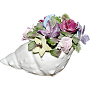 Floral Bouquet in Shell Royal Adderley China