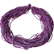 Lavender Torsade Necklace 30 Strands