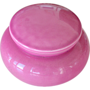 Rose Pink  Vanity or Powder Jar Japan