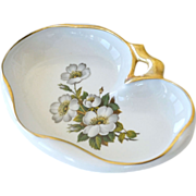 Limoges Candy Dish White Roses