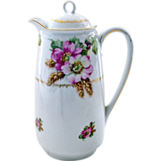 Chocolate Pot with Roses and Wheat