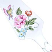 Cake Server Porcelain Butterfly and Peonies Japan