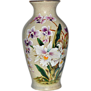 Vase White Orchid Porcelain Toyo Japan
