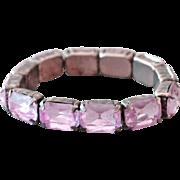Amethyst Crystal Bracelet Large Faceted Stones