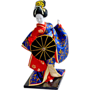Traditional Japanese Geisha Doll 12 Inches Tall