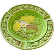 Ashtray with Fruit Majolica Style Japan