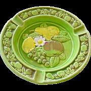 Ashtray with Fruit Majolica Style Japan