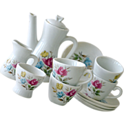 Childs Tea Set Japan Porcelain with Rose Pattern