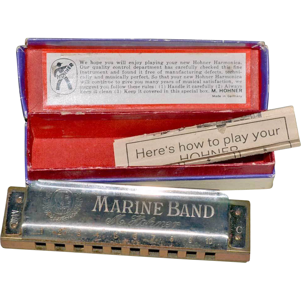 Harmonica No. 1896 Marine Band M. Hohner Germany