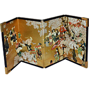 Miniature Chinese Folding Screen