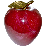 Apple Paperweight Natural Stone