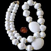 Necklace Jumbo White Beads