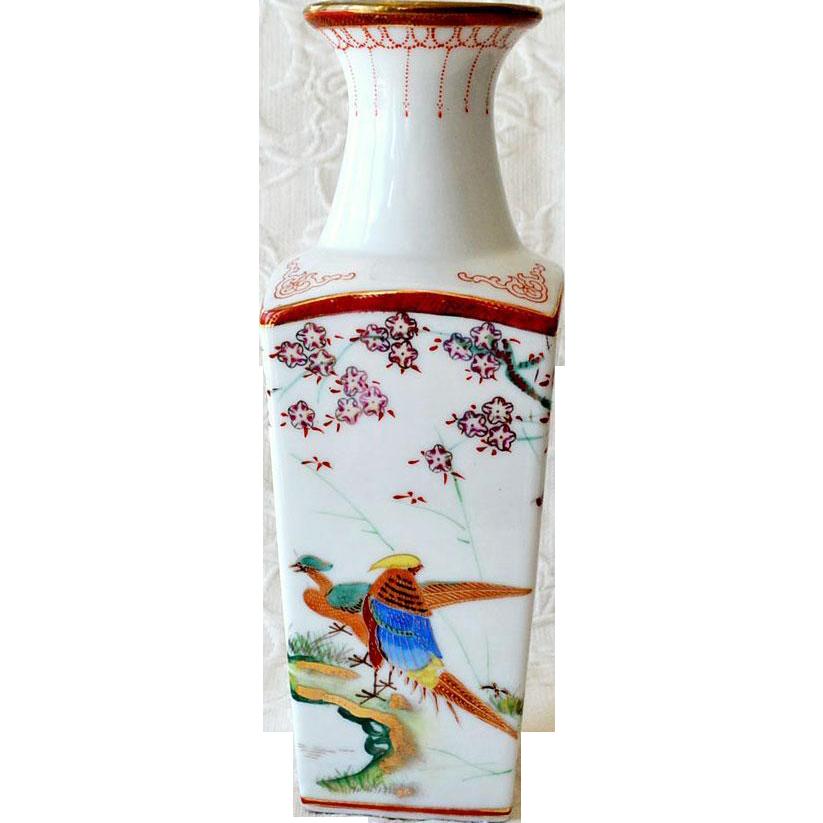 Vase Chinese Bird of Paradise Chrysanthemums