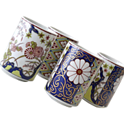 Four Handleless Cups Empress Imari Porcelain