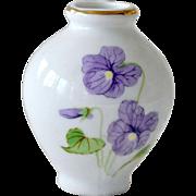Miniature Vase Violets Otagiri OMC Hand Painted