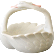 Swans Porcelain Basket Fitz and Floyd Intertwining Necks