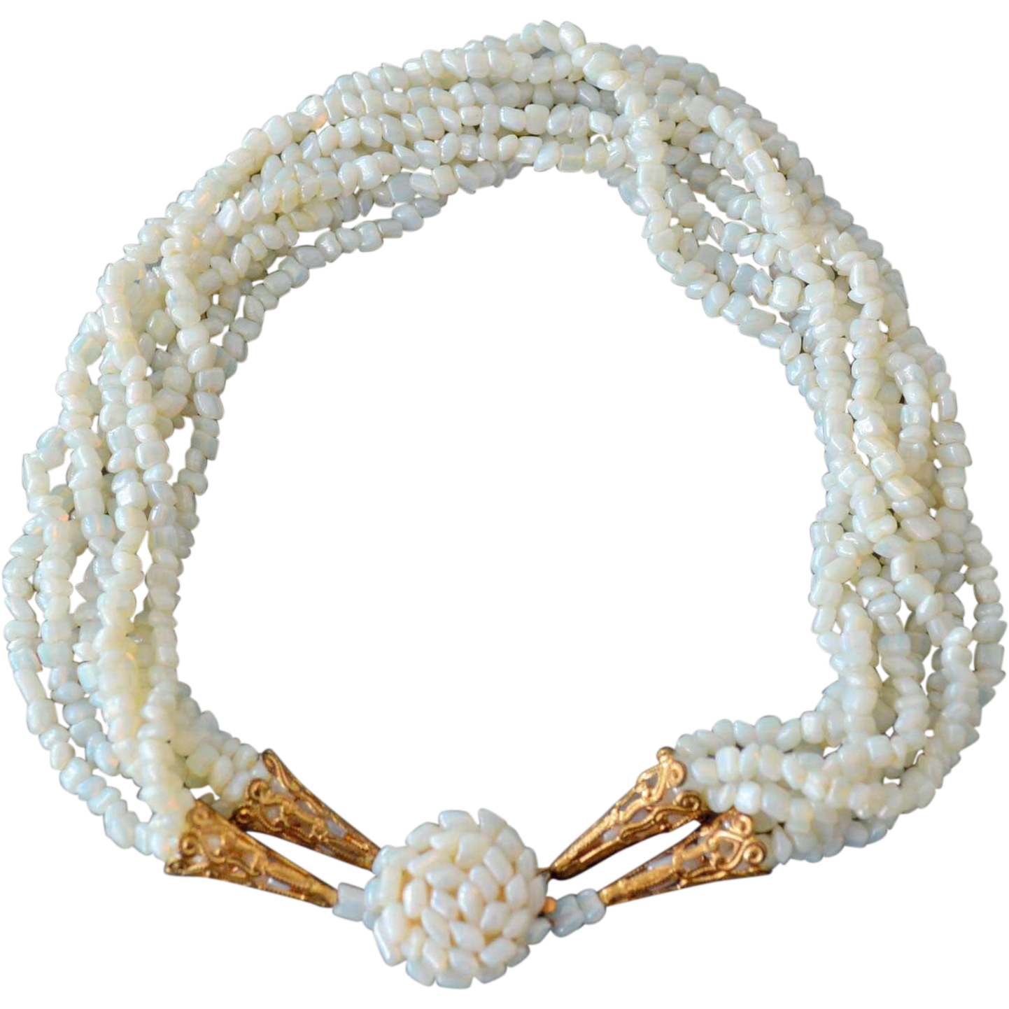 Necklace Mother of Pearl Eight Strands