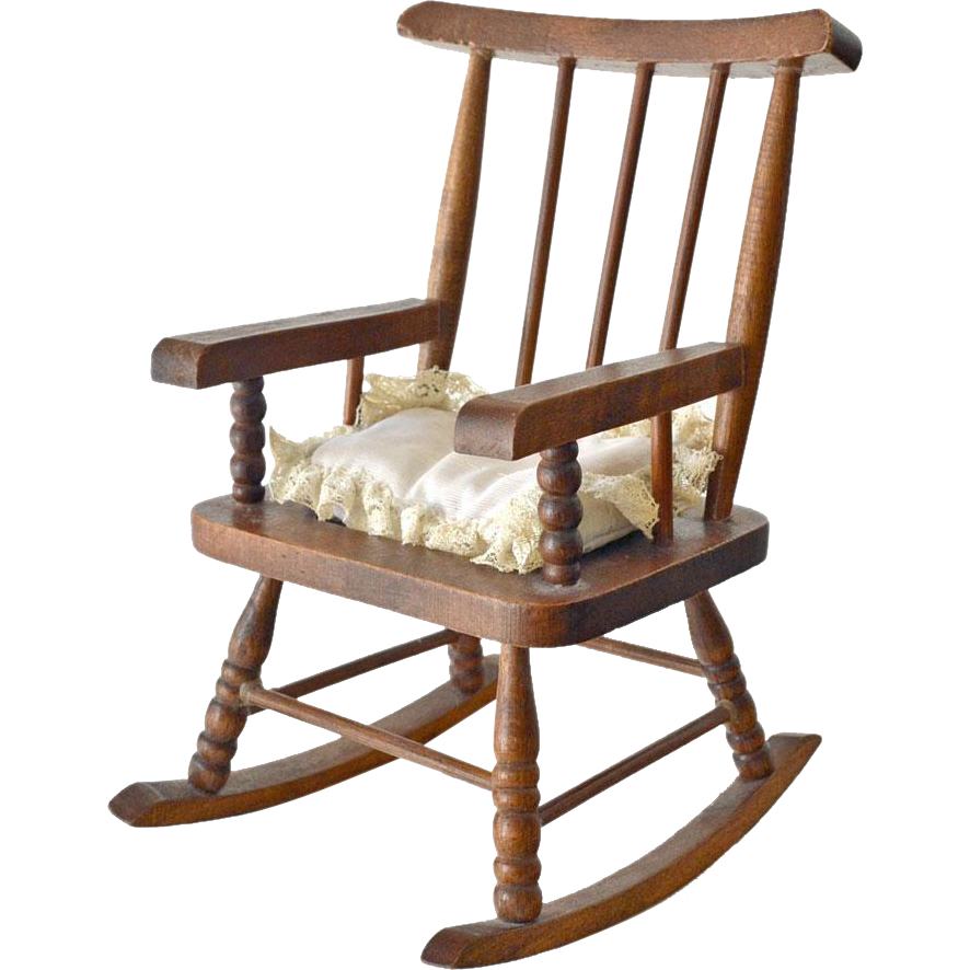 Wood Rocking Chair Doll or Child Toy