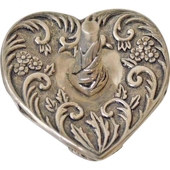 Heart Ring Holder Silverplate