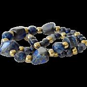 Lapis Lazuli Necklace Large Stone Beads