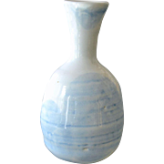 Pottery Vase Hand Thrown Soft Sky Like Blue