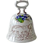 Staffordshire China Proverb Bell