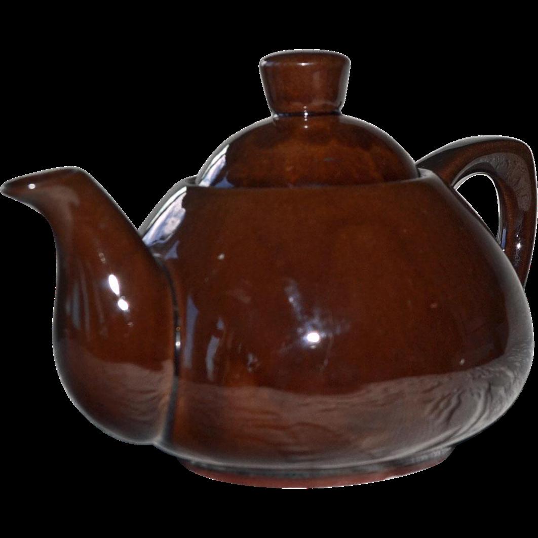 Redware Teapot Ming Tea Co. Secaucus NJ