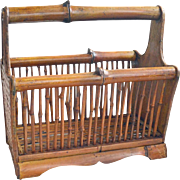 Magazine Rack Bamboo Rattan Woven Wicker