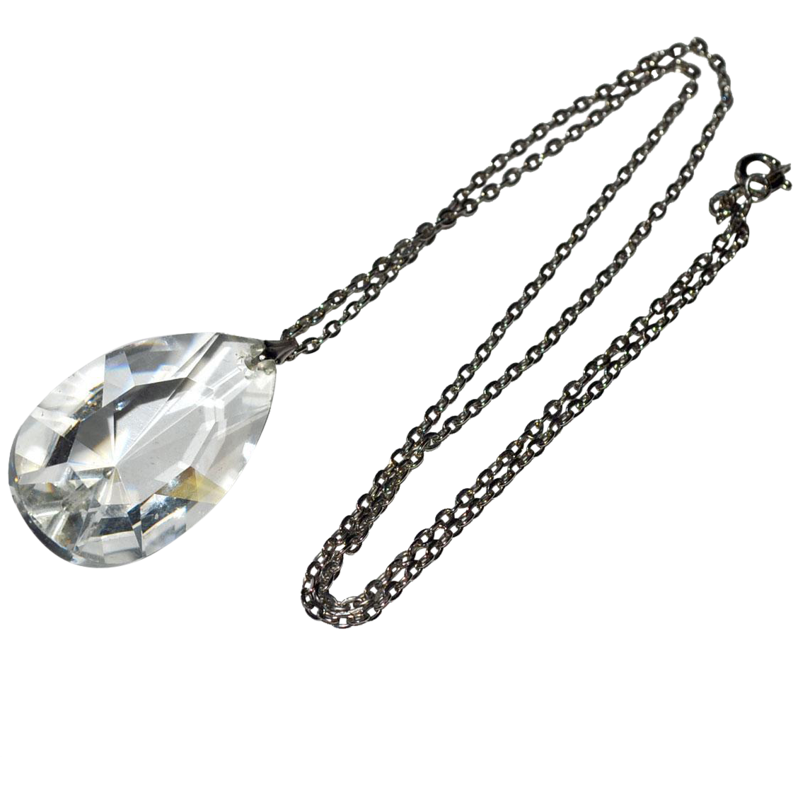 Hefty Crystal Pendant Necklace