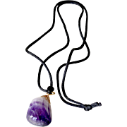 Natural Amethyst Gemstone Pendant Necklace
