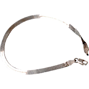 Herringbone Sterling Silver Bracelet Italy