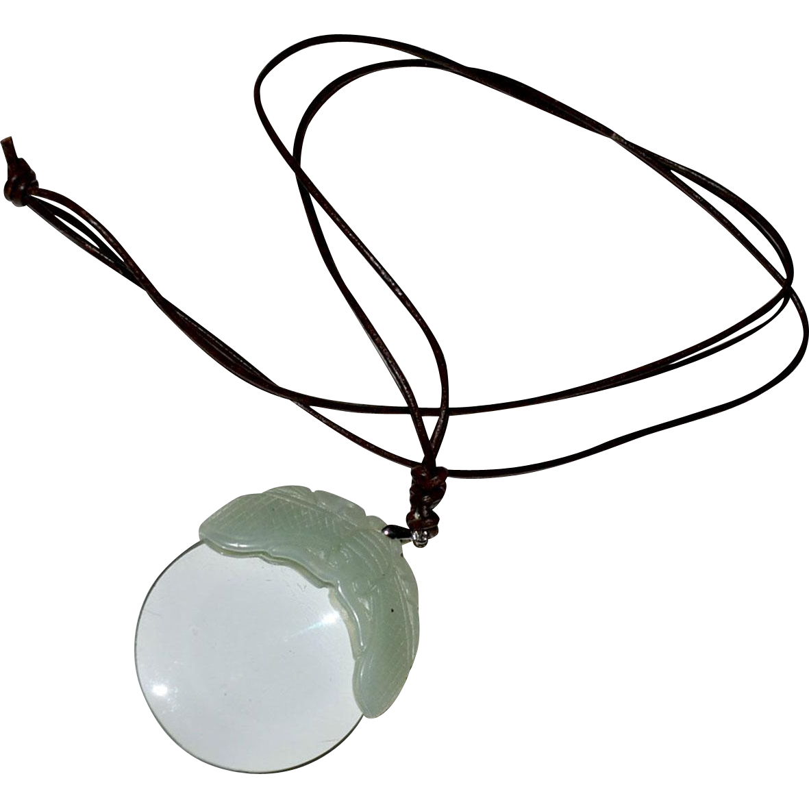Magnifying Glass Pendant Jade