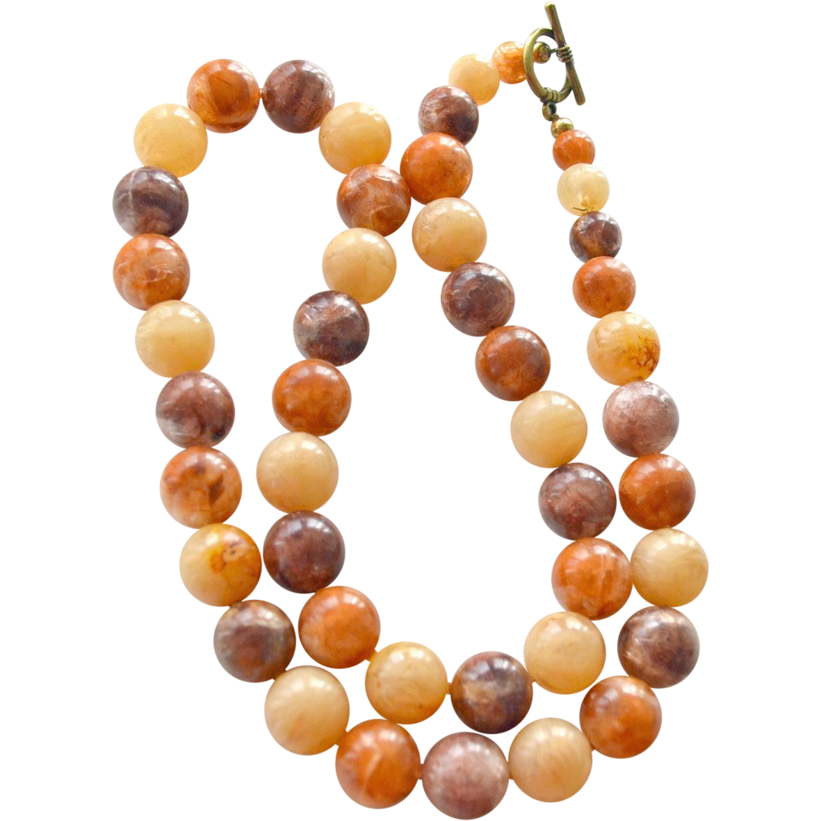 Necklace Huge Amber Like Beads