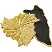 Leaf Brooch Pendant Hinged Bale