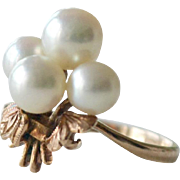 Pearl and Rose gold 14k Ring