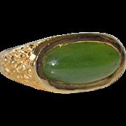 Green Onyx Ring 14k Gold Hefty 8.1 Grams