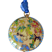Cloisonne Enamel Pendant Necklace