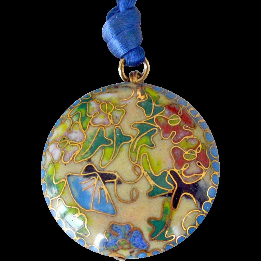 Cloisonne Enamel Pendant Necklace