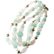 Jade Necklace 30 Inches Round and Oval Beads