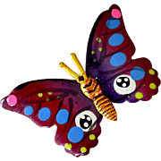 Pin Hand Painted Butterfly