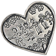 Sterling Silver Heart Pin Save the Children