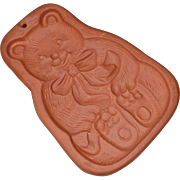 Bear Terracotta Cookie Mold with Recipe