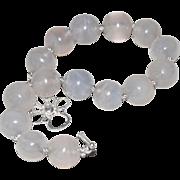 Moonstone Bracelet Half Inch Beads