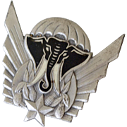 French Paratroopers Beret Badge Elephant