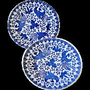 Morimura Noritake Phonex Bird Two Plates As Is