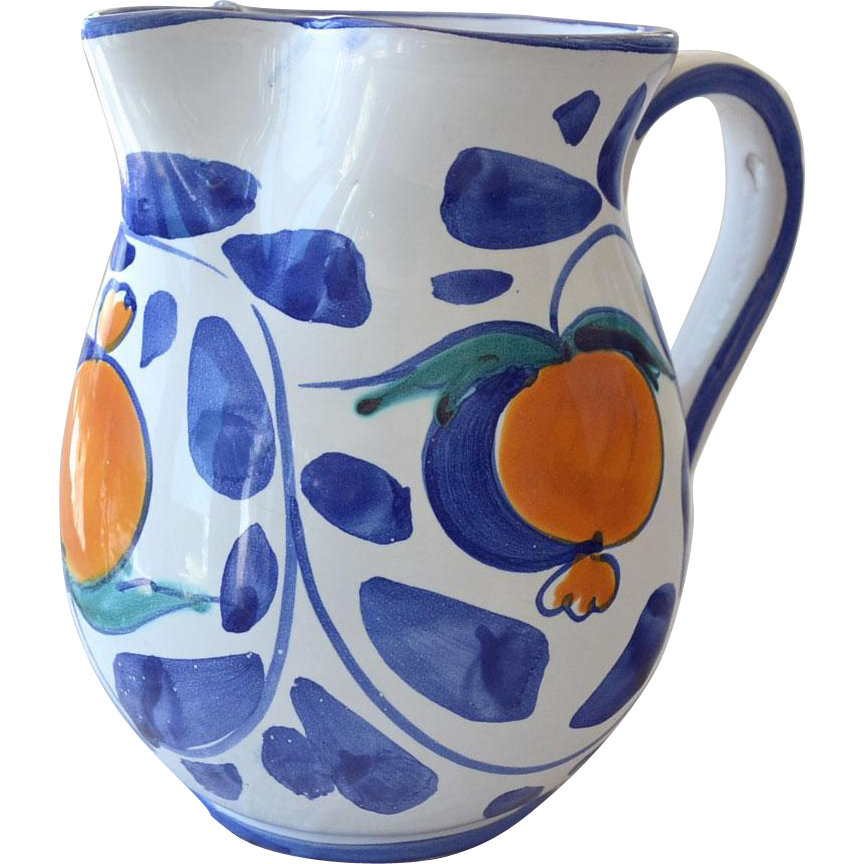 Pitcher Desuir Camestra Pottery Italy Hand Painted