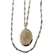 Locket Two Chain Strands 36 Inches